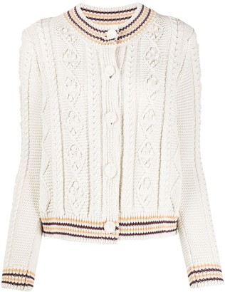 Tory Burch Button Down Cable Knit Cardigan