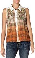 Miss Me Women's Sleeveless Ombre Shirt