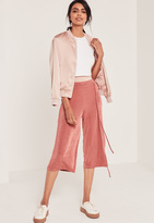Missguided Petite Pink Slinky Culottes