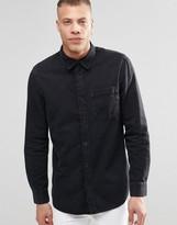Weekday Class Denim Shirt Washed Black