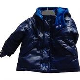 adidas Blue Synthetic Jacket coat