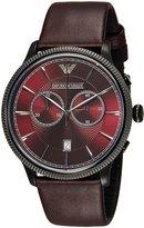 Emporio Armani Men's Classic AR1795 Leather Quartz Watch
