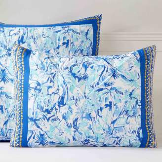Pottery Barn Teen Lilly Pulitzer Elephant Appeal Sham, Standard, Ikat Blue