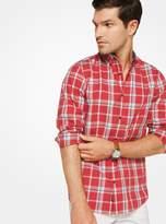 Michael Kors Slim-Fit Plaid Cotton Shirt
