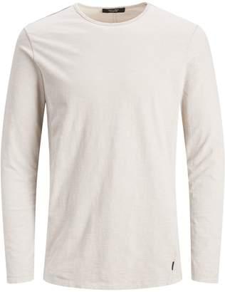 Jack and Jones Crew Neck Cotton Long-Sleeve T-Shirt