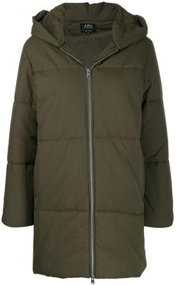 A.P.C. oversized hooded coat