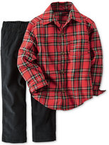 Carter's Toddler Boys' 2-Pc. Plaid Flannel Shirt & Pants Set