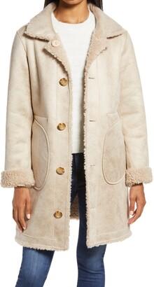 Ellen Tracy Reversible Faux Shearling Coat