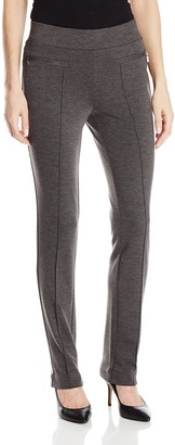 Rafaella Women's Petite Ponte Comfort Slim Leg Pant