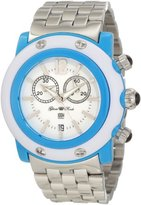Glam Rock Women's GD1108-DC Miami Beach Chronograph White Dial Stainless Steel Watch