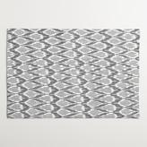 Cost Plus World Market Black and White Ikat Placemats, Set of 4