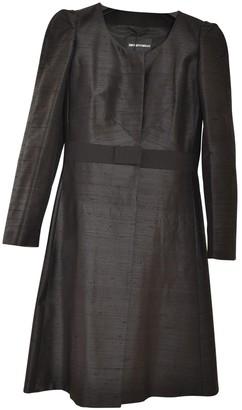 Emporio Armani Black Silk Coat for Women