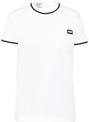 Prada ruffled trim T-shirt
