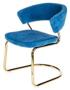Statements By J Brandie Upholstered Dining Chair Upholstery Color: Blue
