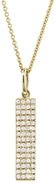 Jennifer Meyer Vertical Diamond Rectangle Pendant Necklace