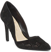Jessica Simpson Charie Suede Cutout Pointed-Toe Pumps
