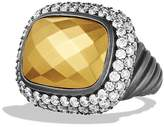 David Yurman Waverly Ring with Gold Dome & Diamonds