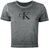 Calvin Klein Jeans washed out logo T-shirt - women - Cotton - L