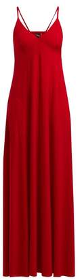 Norma Kamali V-neck Jersey Slip Dress - Womens - Red
