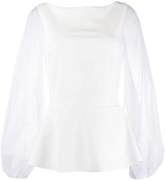 Le Petite Robe Di Chiara Boni Katell sheer-sleeve blouse