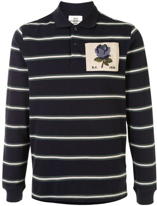 Kent & Curwen Striped Long-Sleeved Polo Shirt