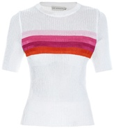 Mary Katrantzou Hele striped-intarsia sweater