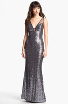 Faviana Sequin & Tulle Gown (Online Exclusive)