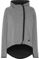Nike Tech Fleece Cotton-blend Jersey Hooded Top - Gray