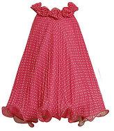 Bonnie Jean 7-16 Flocked Dot Pleated Dress