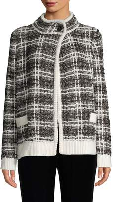 Karl Lagerfeld Paris Tweed Cardigan
