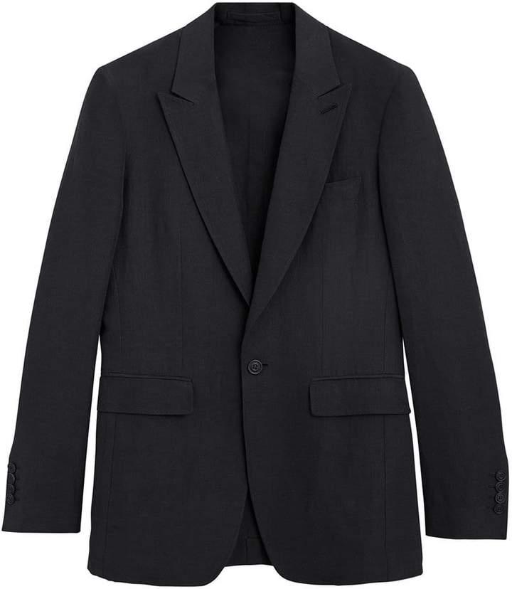 Burberry Slim Fit Linen Silk Evening Jacket