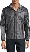 Madison Supply Men's Full Zip Windbreaker Jacket - Grey, Size xx-large