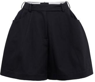 Simone Rocha High-rise cotton drill shorts
