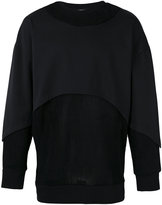 Les Benjamins layered panel sweatshirt - men - Cotton - S