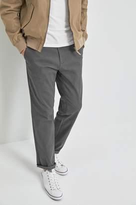 Next Mens Grey Straight Fit Comfort Waist Stretch Chinos - Grey