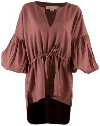 Nary Koh Rong Linen Lounge Top In Rose Pink