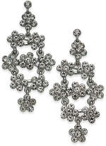 INC International Concepts I.n.c. Silver-Tone Pave Flower Cluster Chandelier Earrings, Created for Macy's