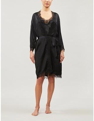 Sainted Sisters Scarlett silk-satin dressing gown