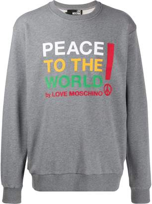Love Moschino peace print relaxed-fit sweatshirt