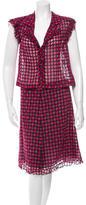 Chanel Polka Dot Silk Skirt Set w/ Tags