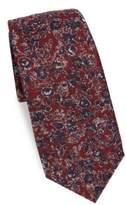 Kiton Floral Print Silk Tie