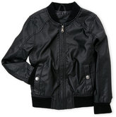 Urban Republic Boys 8-20) Perforated Faux Leather Bomber Jacket