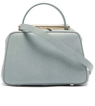 Valextra X Michael A Flute Medium Grained-leather Handbag - Grey