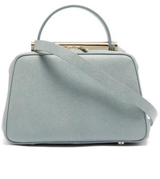Valextra X Michael A Flute Medium Grained-leather Handbag - Womens - Grey