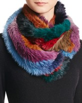 Jocelyn Rabbit Fur Knitted Infinity Scarf - 100% Exclusive