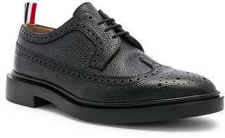 Thom Browne Rubber Sole Brogue in Black | FWRD