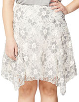 Rachel Rachel Roy Plus Floral Handkerchief-Hem Skirt