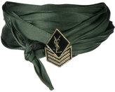 Saint Laurent army braided choker