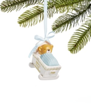 Holiday Lane Baby's First Christmas 2020, Bear in a Blue-Top Cradle Ornament, Created for Macy's