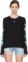 Off-White SSENSE Exclusive Black Diagonal Tulips T-Shirt